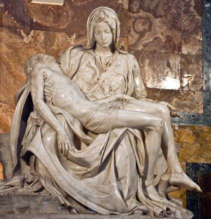 """Résultat de recherche d'images pour """"la pietà de michel-ange"""""""